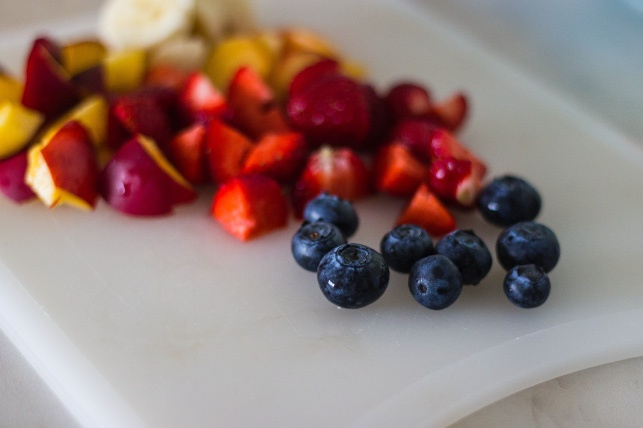 healthy fruits on a table that are good for kids dental health